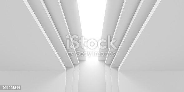 951228698 istock photo Abstract of white architectural space,Concept of minimal futuristic interior style.3D rendering 951228844