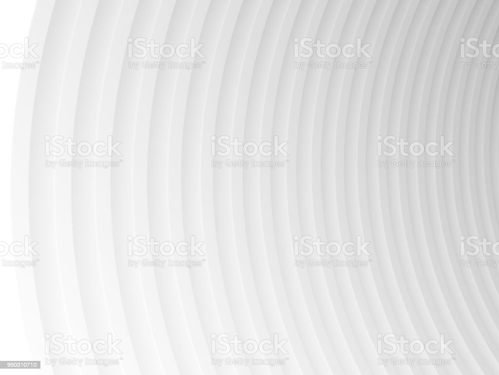 Abstract of white curved architectural pattern background,Concept of future modern design architecture,3d rendering stock photo