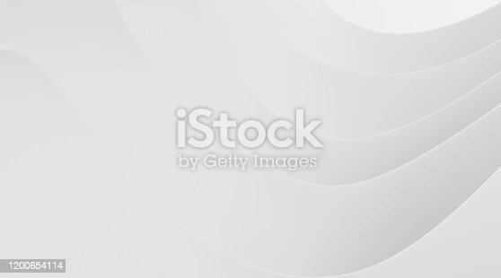 istock Abstract of white smooth shape for architectural idea, Curve line ,White background with free form, 3D rendering 1200654114