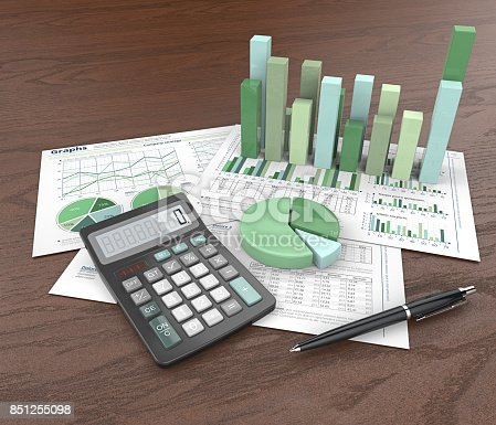 istock Abstract Office Workplace. 851255098