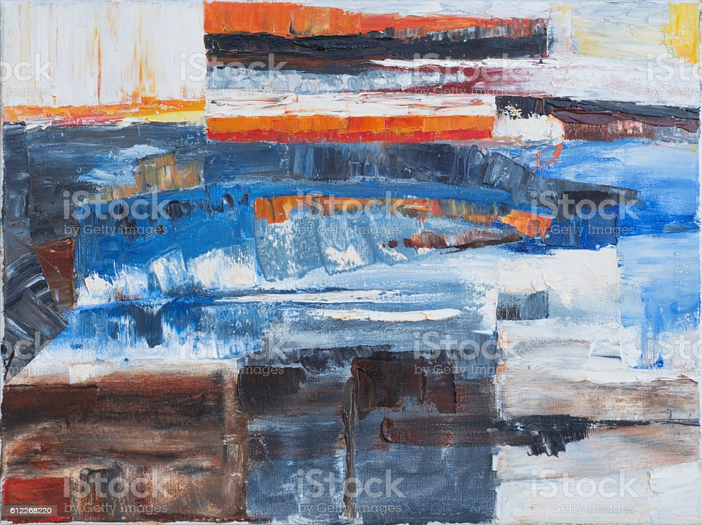 Abstract oil on canvas background stock photo