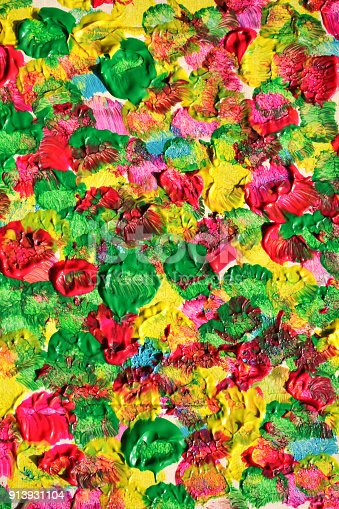 523169768istockphoto Abstract oil paint texture on canvas, background. Artistic acrylic paint. Oil painting on canvas. Modern art, contemporary art. Painted wall. 913931104