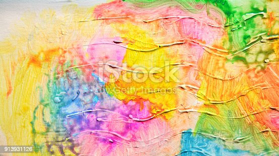 523169768istockphoto Abstract oil paint texture on canvas, background. Artistic acrylic paint. Oil painting on canvas. Modern art, contemporary art. Painted wall. 913931126