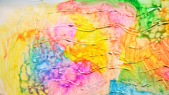 523169768 istock photo Abstract oil paint texture on canvas, background. Artistic acrylic paint. Oil painting on canvas. Modern art, contemporary art. Painted wall. 913931126