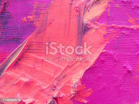 523169768istockphoto Abstract oil paint texture on canvas, background 1146563079