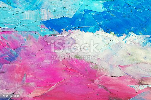 istock abstract oil paint texture on canvas, background 523169768