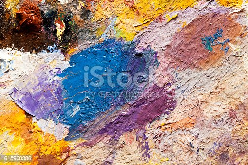 istock abstract oil paint texture on canvas, background 615900386