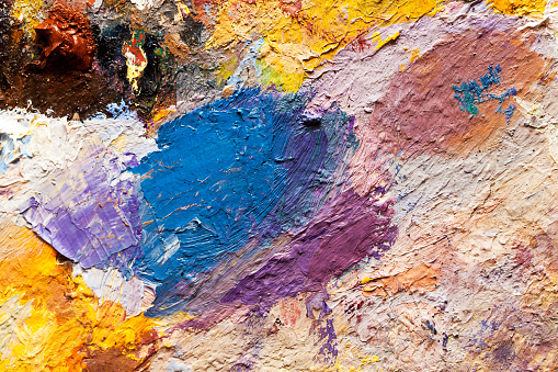 523169768 istock photo abstract oil paint texture on canvas, background 615900386