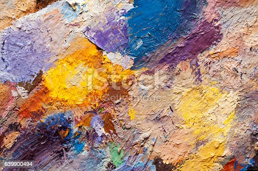 istock abstract oil paint texture on canvas, background 639900494