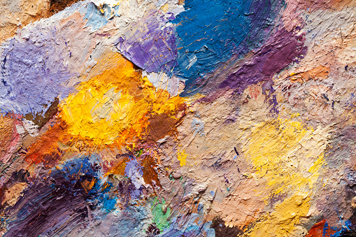 523169768 istock photo abstract oil paint texture on canvas, background 639900494