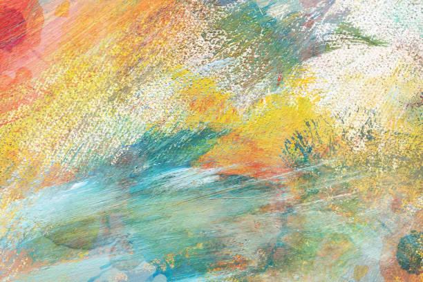 抽象的な背景のキャンバスに油絵の具テクスチャ ストックフォト