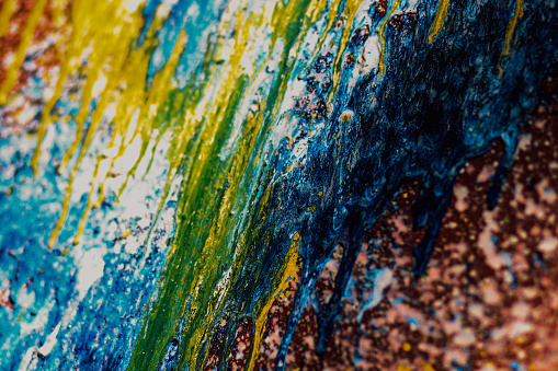 523169768 istock photo Abstract oil paint texture on canvas, background 838376028