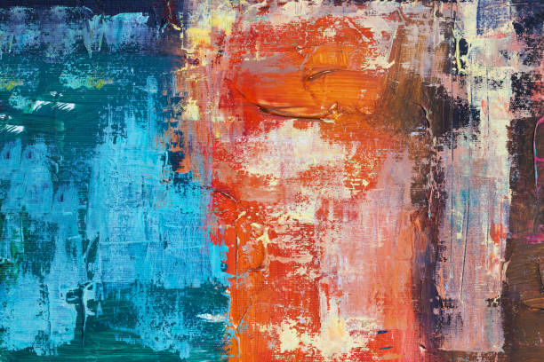 abstract oil paint texture on canvas, background stock photo