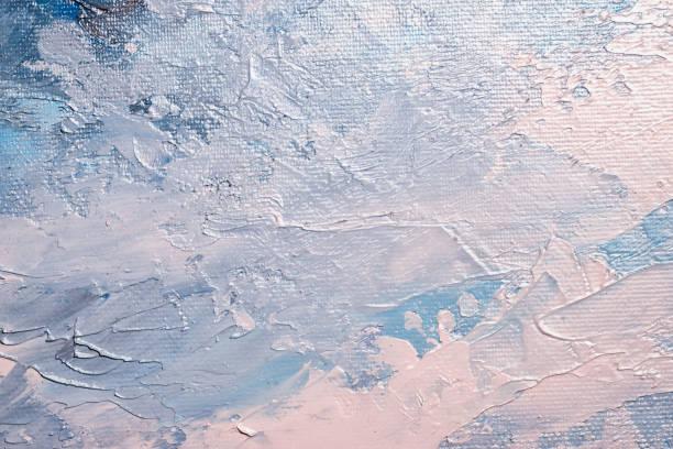 tuval üzerine yağlı boya doku soyut - yağlı boya resim stok fotoğraflar ve resimler