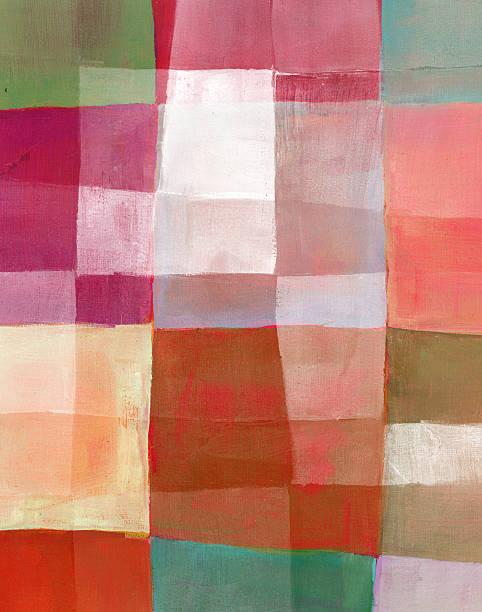 abstrakte ölmalerei - kariertes hintergrundsbild stock-fotos und bilder