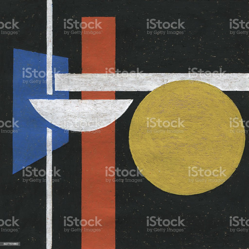 Abstract oil pastel painting stock photo