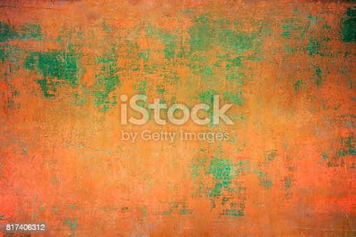 istock Abstract Old Rusty Colorful Wall Background 817406312