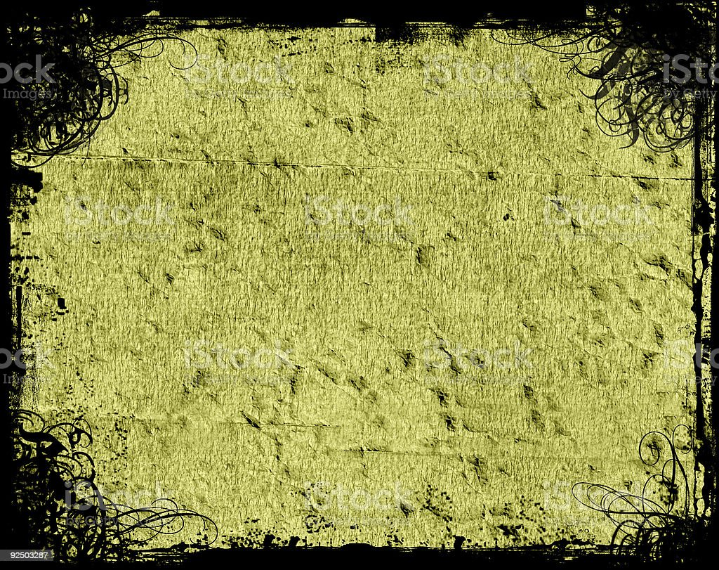 Abstract Olive Background with Antique Grungy Swirl stock photo