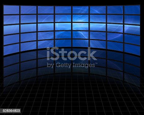 istock Abstract on Large Set of Screens 528364803