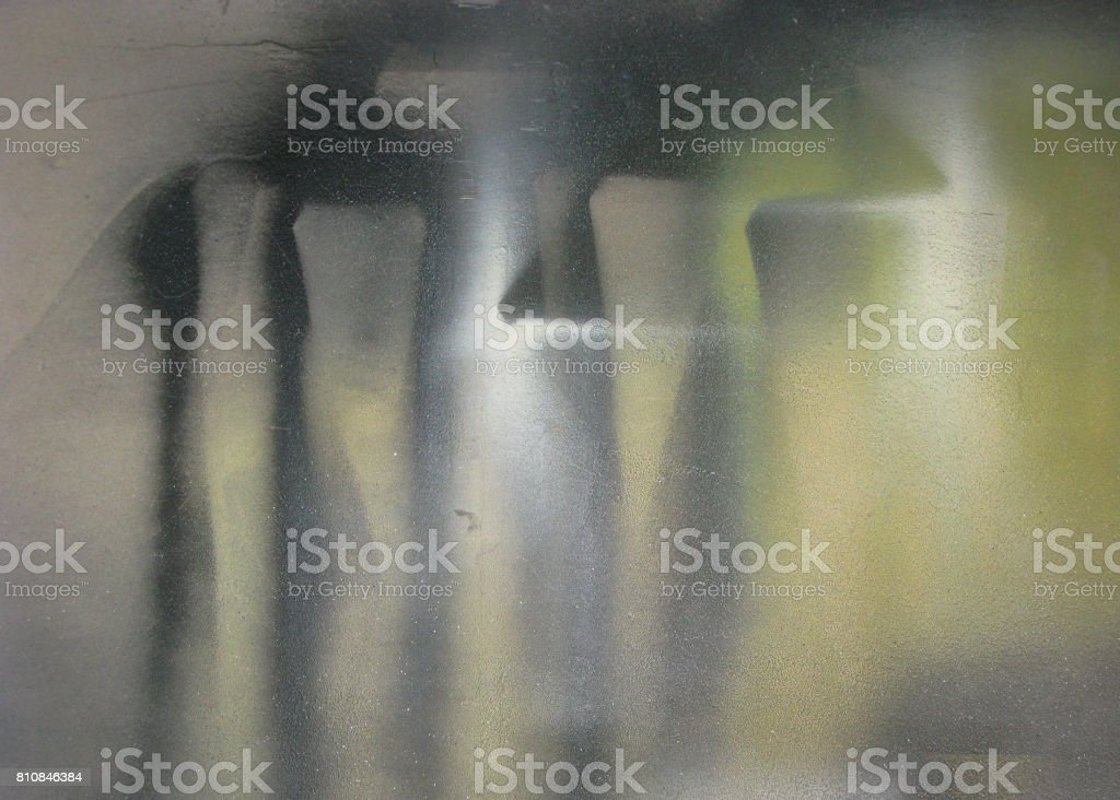 Abstract on the Wall of a Furniture Refinishing Studio, Craighurst, Ontario stock photo