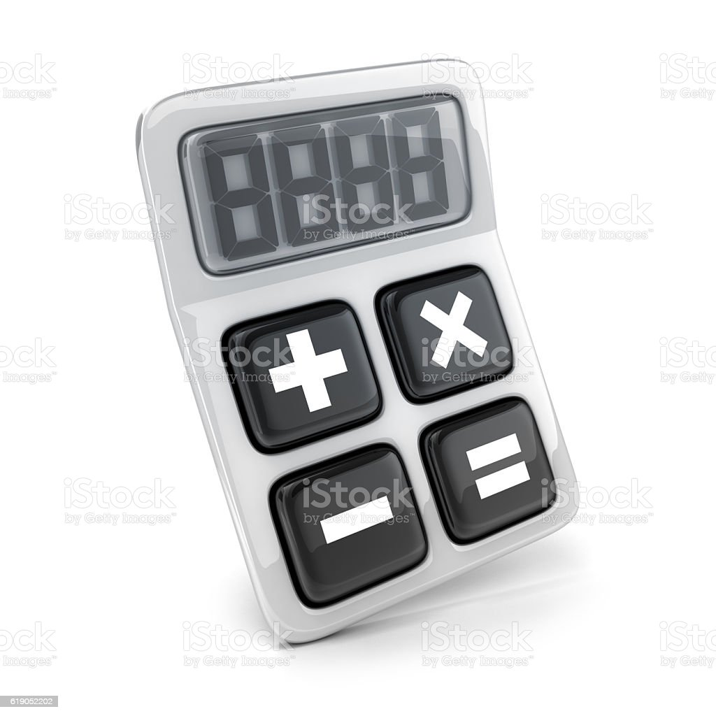 Abstract one calculator stock photo