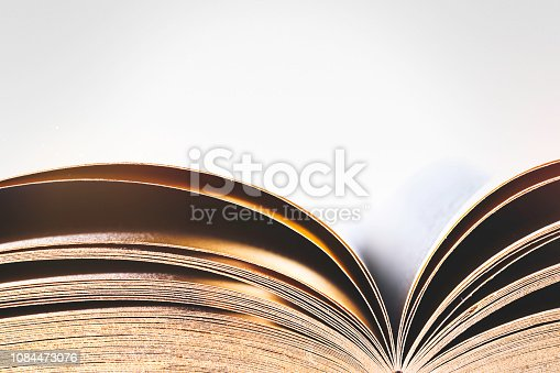 Abstract Open Old Book