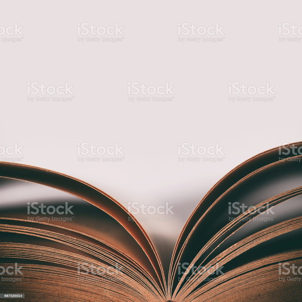 Abstract Open Old Book stock photo