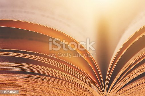 istock Abstract Open Old Book 687548418