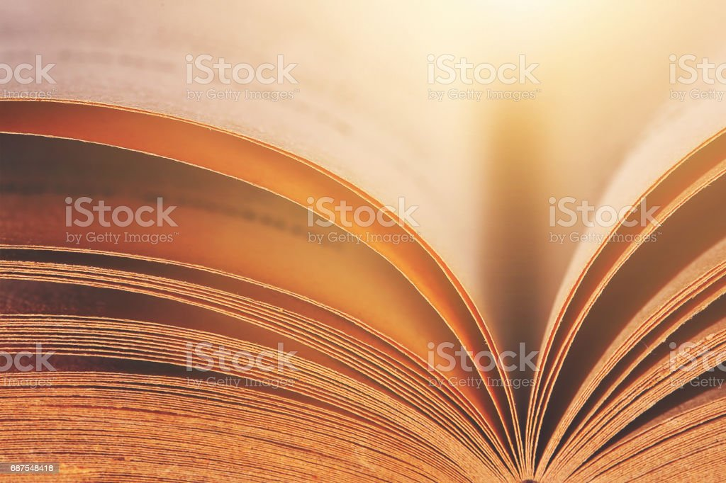 Abstract Open Old Book - fotografia de stock