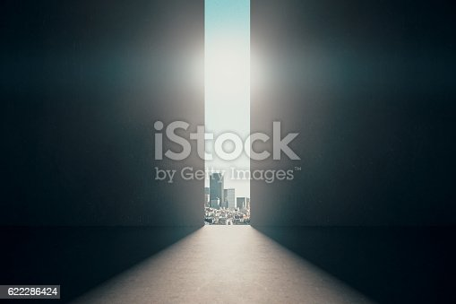 istock Abstract opening in wall 622286424