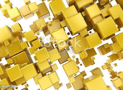 511983606 istock photo Abstract orange 3d cubes 514712986