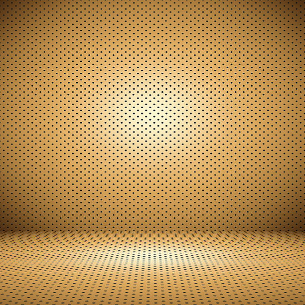 Abstract Orange background layout design with Polka dot. stock photo
