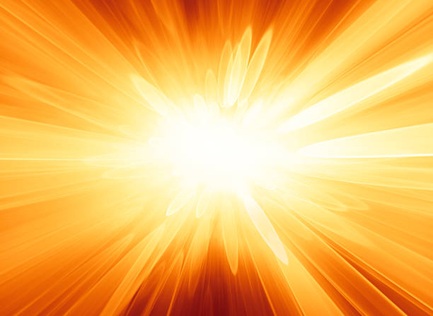Abstract orange background looks like explosion or bright star stock photo