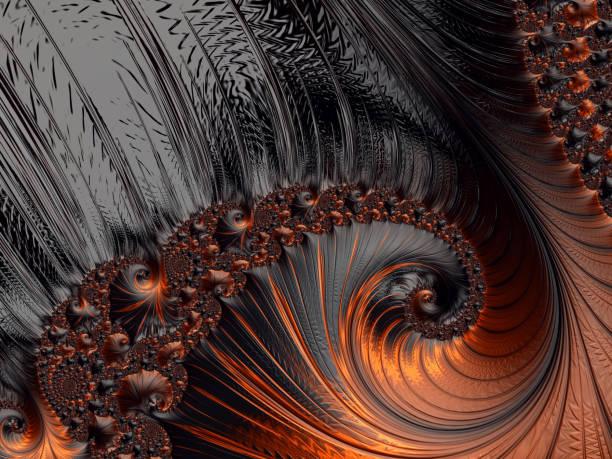 抽象橙色黑色背景萬聖節秋季模式斐波那契螺旋複製空間。 - 黃金比例 個照片及圖片檔