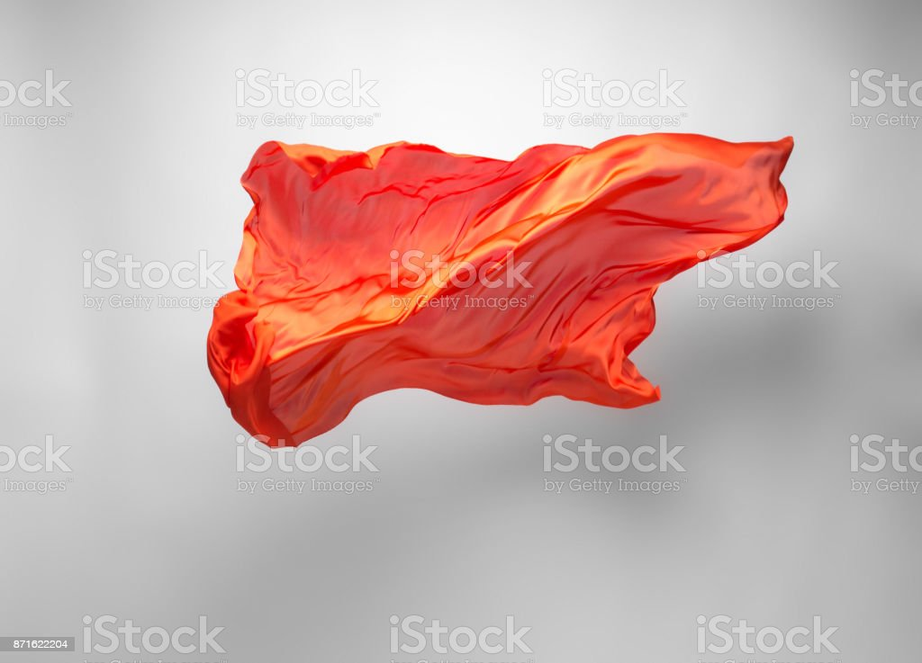 abstract orange fabric in motion stock photo