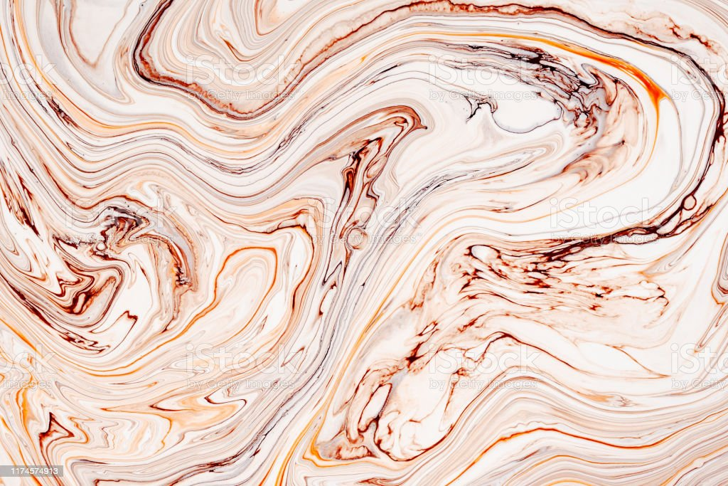 Abstract Orange Marble Granite Fluid Texture Natural Stone Resin Art Modern Artwork Wallpaper Stock Photo Download Image Now Istock
