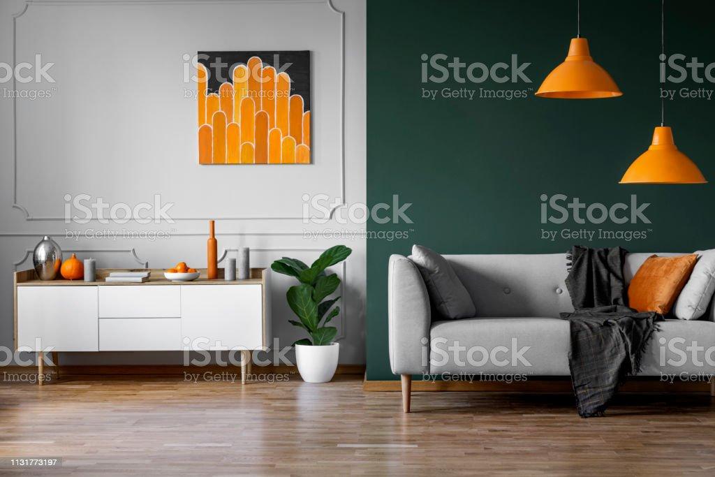 Photo Libre De Droit De Abstrait Peinture Orange Sur Mur
