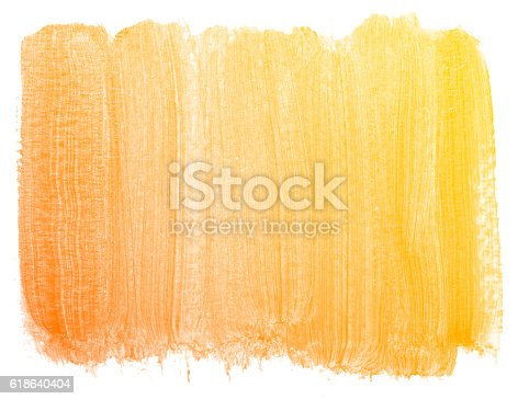 istock Abstract orange watercolor background. 618640404