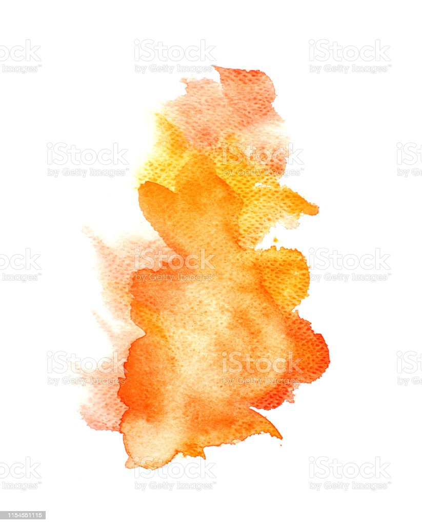 Abstract Orange Watercolor On White Background Orange Color