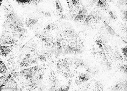 istock Abstract original messy dotted unfinished 3D effect white painted background 874333064