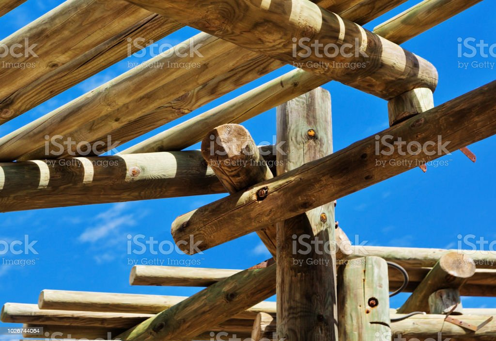 Abstract Outdoor Wooden Canopy Roof Structure Stock Photo Download Image Now Istock