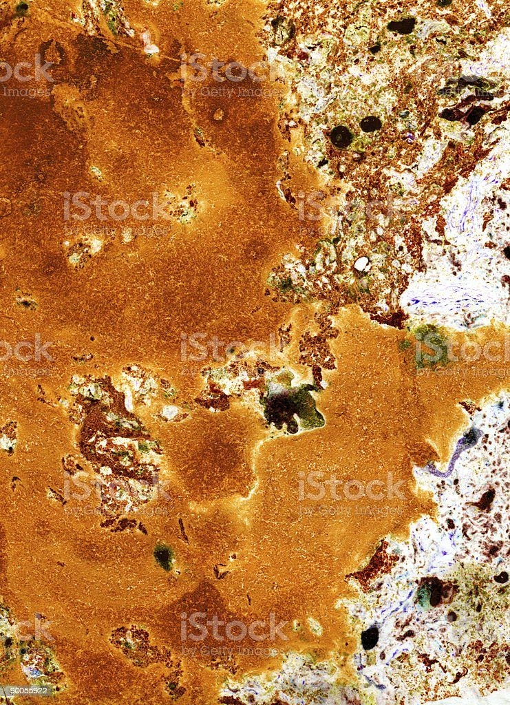 Abstract paint on old paper stock photo