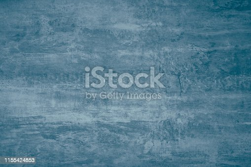 istock Abstract paint pattern on dark blue gray background. Blue paint stains on canvas. Illustration with blots on dark grey background. Creative artistic backdrop. Watercolor paper grunge texture, dirty surface. Paint splash. 1155424853