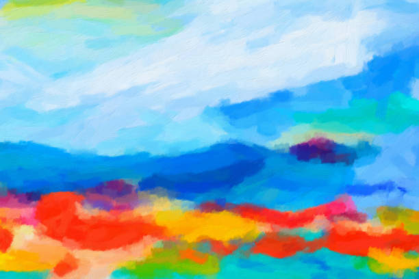 Abstract Painted Art Background Details from my own paintings tempera painting stock pictures, royalty-free photos & images