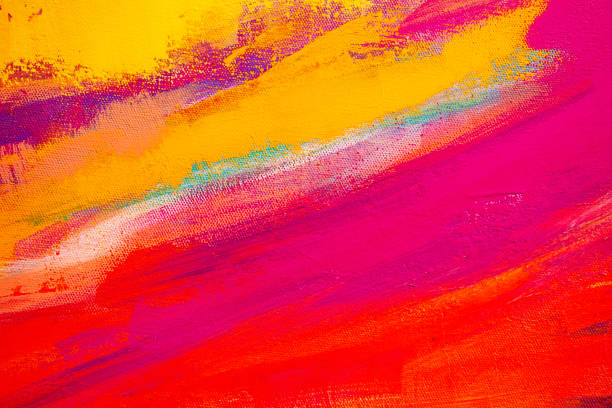 Abstract Painted Art Background stock photo