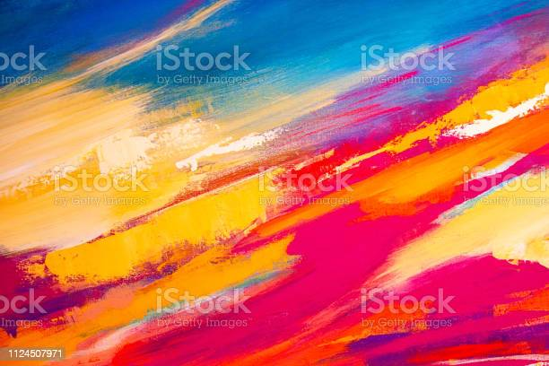 Photo of Abstract Painted Art Background
