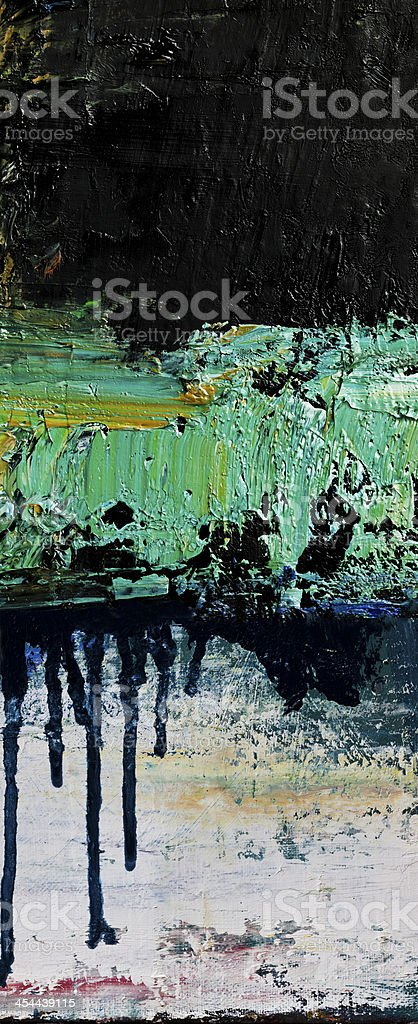 Abstract painted black and green art backgrounds. stock photo