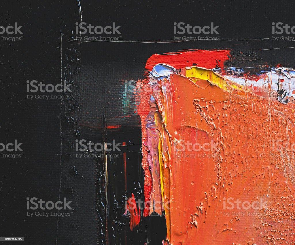Abstrait noir et rouge peinture d'art arrière-plans. - Photo de Abstrait libre de droits