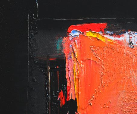 Photo libre de droit de Abstrait Noir Et Rouge Peinture Dart Arrièreplans banque d'images et plus d'images libres de droit de Abstrait