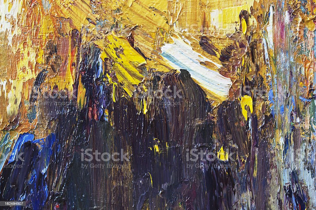 Abstract painted black  art backgrounds. stock photo